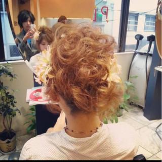 アップスタイル ヘアアレンジ ボブ フェミニン ヘアスタイルや髪型の写真・画像