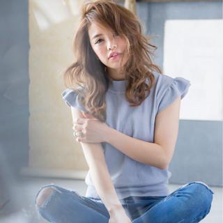 ゆるふわ ロング モテ髪 フェミニン ヘアスタイルや髪型の写真・画像