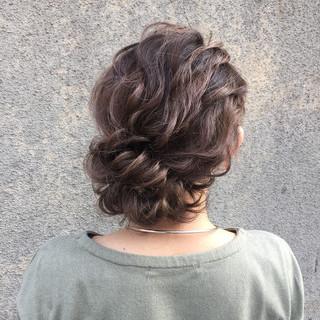 ミディアム 大人かわいい 簡単ヘアアレンジ 外国人風 ヘアスタイルや髪型の写真・画像