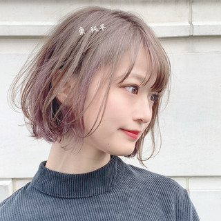 ミニボブ ショートボブ ショートヘア ナチュラル ヘアスタイルや髪型の写真・画像
