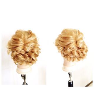 外国人風 セミロング 簡単ヘアアレンジ ヘアアレンジ ヘアスタイルや髪型の写真・画像