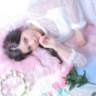 結婚式ヘアアレンジ ヘアアレンジ 撮影 エレガント ヘアスタイルや髪型の写真・画像