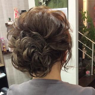 ロング 結婚式ヘアアレンジ ナチュラル ヘアアレンジ ヘアスタイルや髪型の写真・画像