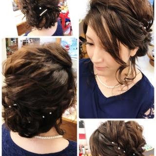 ロング フェミニン ルーズ アップスタイル ヘアスタイルや髪型の写真・画像