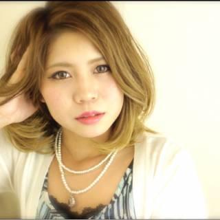 ストリート 外国人風 ミディアム 渋谷系 ヘアスタイルや髪型の写真・画像