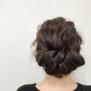 ロング ヘアアレンジ ゆるふわ モテ髪 ヘアスタイルや髪型の写真・画像