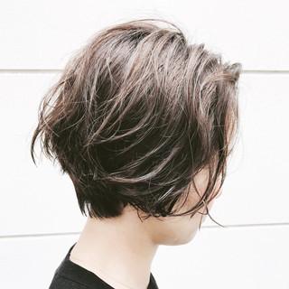 ヘアアレンジ 抜け感 ナチュラル ボブ ヘアスタイルや髪型の写真・画像