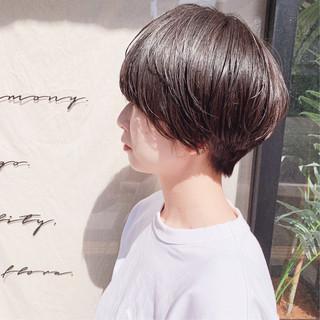 ナチュラル 切りっぱなしボブ ミニボブ ショートヘア ヘアスタイルや髪型の写真・画像