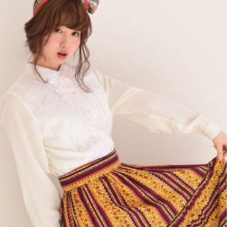 バンダナを使った髪型で可愛さUP♡とっておきアレンジ特集