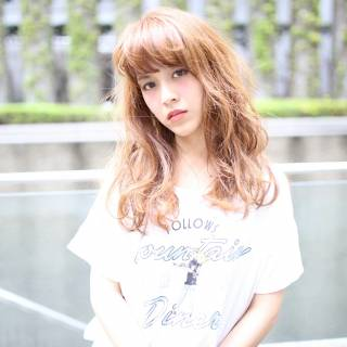 外国人風 モテ髪 セミロング ナチュラル ヘアスタイルや髪型の写真・画像