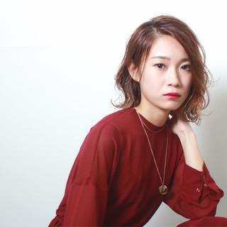 ハイライト エレガント 透明感 秋 ヘアスタイルや髪型の写真・画像
