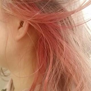 ガーリー ミディアム 春 ハイトーン ヘアスタイルや髪型の写真・画像