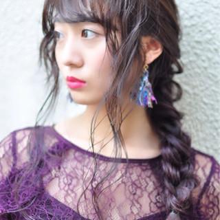 透明感 ヘアアレンジ ロング ナチュラル ヘアスタイルや髪型の写真・画像