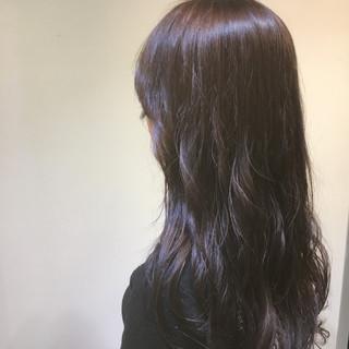 モード ロング 暗髪 バイオレットアッシュ ヘアスタイルや髪型の写真・画像 ヘアスタイルや髪型の写真・画像