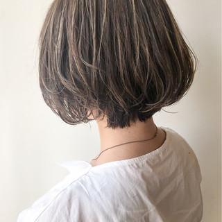 コンサバ オフィス ボブ ショートボブ ヘアスタイルや髪型の写真・画像
