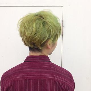グリーン ストリート ショート ボーイッシュ ヘアスタイルや髪型の写真・画像 ヘアスタイルや髪型の写真・画像