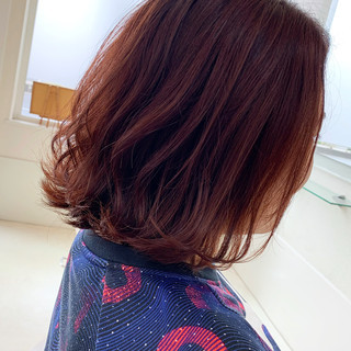 ヘアアレンジ ミニボブ 外ハネ 切りっぱなしボブ ヘアスタイルや髪型の写真・画像