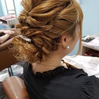 編み込み エレガント 二次会 ヘアアレンジ ヘアスタイルや髪型の写真・画像 ヘアスタイルや髪型の写真・画像