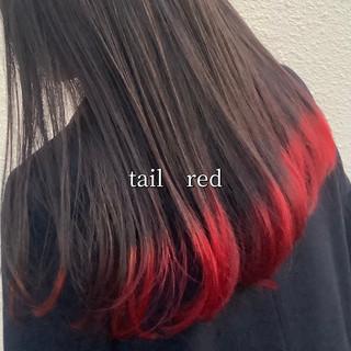 セミロング ナチュラル可愛い ストリート 裾カラー ヘアスタイルや髪型の写真・画像