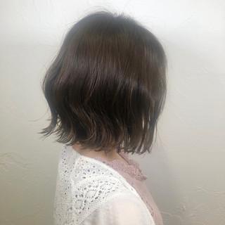 黒髪 オフィス ボブ デート ヘアスタイルや髪型の写真・画像