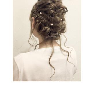 ショート ゆるふわ ヘアアレンジ セミロング ヘアスタイルや髪型の写真・画像