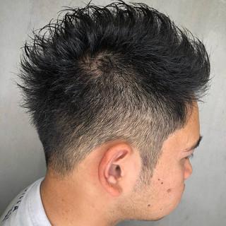 フェードカット ショート メンズヘア メンズ ヘアスタイルや髪型の写真・画像 ヘアスタイルや髪型の写真・画像