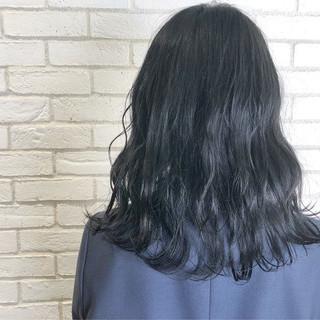 髪質改善 グレージュ セミロング ナチュラル ヘアスタイルや髪型の写真・画像