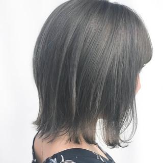 ショートバング ミニボブ モード ボブ ヘアスタイルや髪型の写真・画像