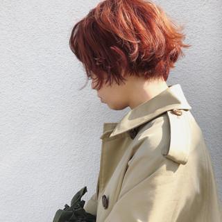 謝恩会 ショート 外国人風カラー ショートボブ ヘアスタイルや髪型の写真・画像