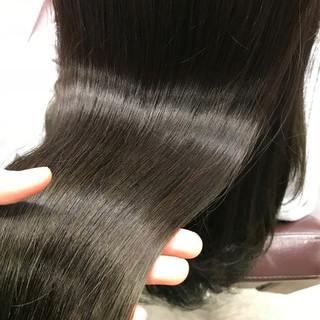 ロング ナチュラル パーマ ストレート ヘアスタイルや髪型の写真・画像 ヘアスタイルや髪型の写真・画像