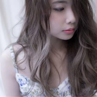 大人かわいい ゆるふわ グラデーションカラー 愛され ヘアスタイルや髪型の写真・画像
