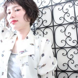 ショートボブ 外国人風 アッシュ ナチュラル ヘアスタイルや髪型の写真・画像
