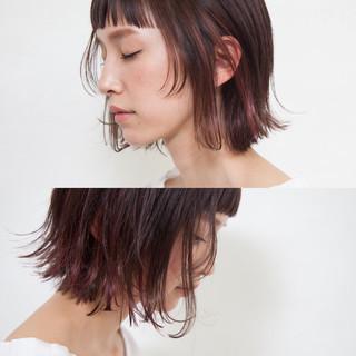 外国人風 ボブ リラックス グラデーションカラー ヘアスタイルや髪型の写真・画像