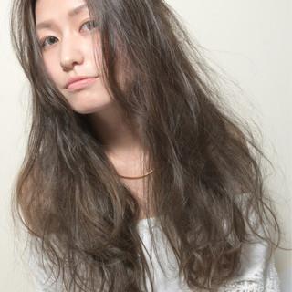モード パーマ ゆるふわ ロング ヘアスタイルや髪型の写真・画像