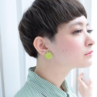 ショート マッシュ 外国人風 大人かわいい ヘアスタイルや髪型の写真・画像