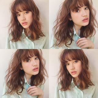 パーマ ニュアンス 外国人風 ガーリー ヘアスタイルや髪型の写真・画像