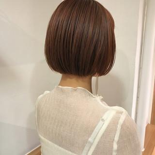ナチュラル ボブ 透明感 秋 ヘアスタイルや髪型の写真・画像