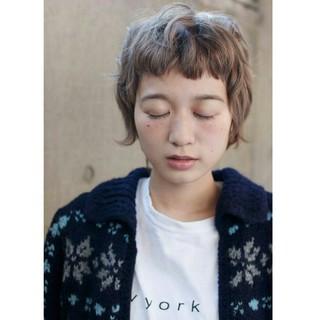 ストリート パーマ 外国人風 ショート ヘアスタイルや髪型の写真・画像