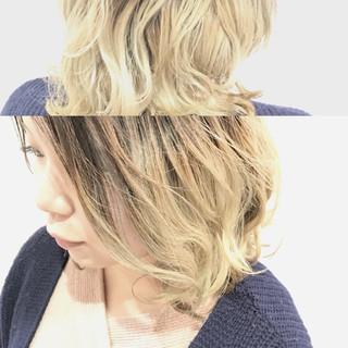 簡単ヘアアレンジ ガーリー 冬 ミディアム ヘアスタイルや髪型の写真・画像
