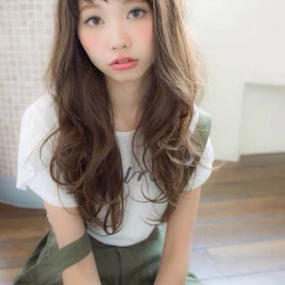 ストリート 春 ロング 外国人風カラー ヘアスタイルや髪型の写真・画像