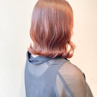 オレンジ ナチュラル オレンジベージュ ブリーチなし ヘアスタイルや髪型の写真・画像