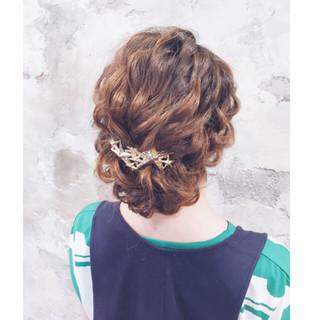 簡単ヘアアレンジ ショート ロング ハーフアップ ヘアスタイルや髪型の写真・画像