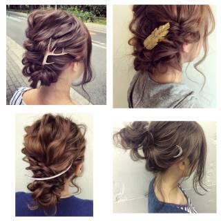 ルーズ ヘアアレンジ 簡単ヘアアレンジ フェミニン ヘアスタイルや髪型の写真・画像 ヘアスタイルや髪型の写真・画像