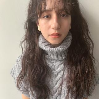 波巻き デジタルパーマ 毛先パーマ 前髪パーマ ヘアスタイルや髪型の写真・画像