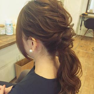 ヘアアレンジ リラックス セミロング 女子会 ヘアスタイルや髪型の写真・画像