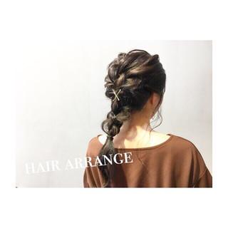 簡単ヘアアレンジ デート 夏 大人かわいい ヘアスタイルや髪型の写真・画像