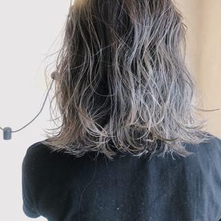 ストリート ボブ ヘアアレンジ バレイヤージュ ヘアスタイルや髪型の写真・画像