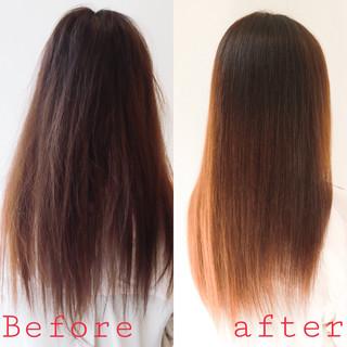 髪質改善トリートメント 最新トリートメント ロング ナチュラル ヘアスタイルや髪型の写真・画像 ヘアスタイルや髪型の写真・画像