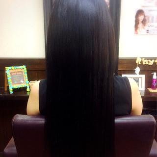黒髪 ロング 大人女子 エクステ ヘアスタイルや髪型の写真・画像