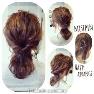ヘアアレンジ 簡単ヘアアレンジ ヘアアクセ ヘアピン ヘアスタイルや髪型の写真・画像
